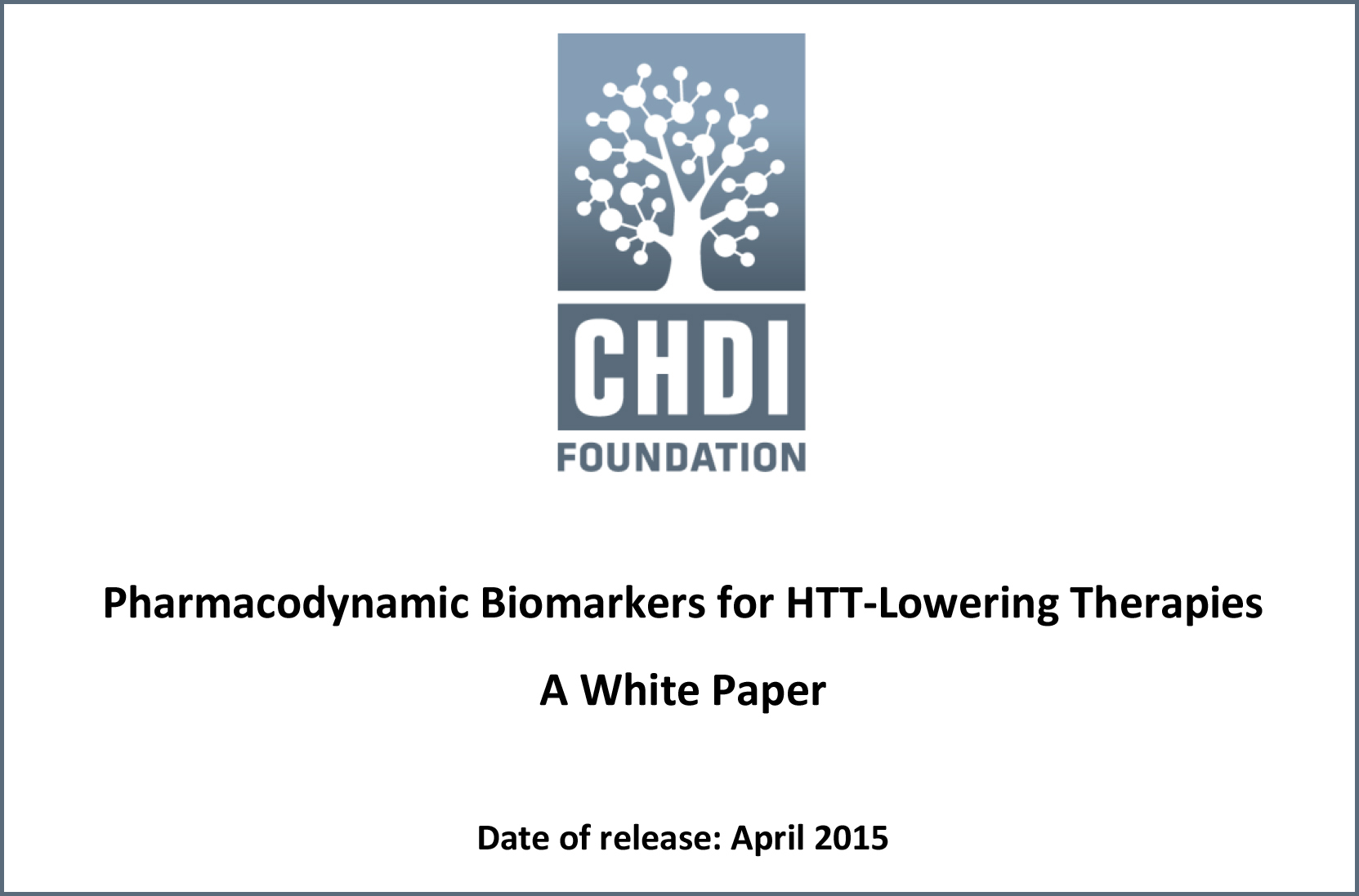 Biomarkers for HTT-Lowering Therapies